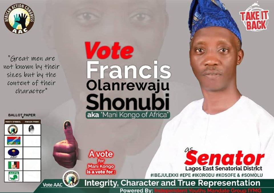 Francis Shonubi Speaks on Purposeful Representation and the Lagos East Senatorial Race.